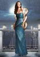 Art Deco Lady Pearl Christmas (blue) A4