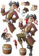 Pirate Dude Decoupage Sheet