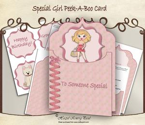 Special Girl Peek-a-boo Card