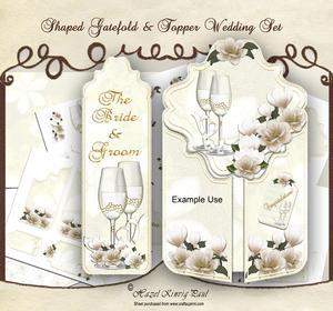 Shaped Gate-fold & Topper Wedding Set