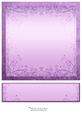 Nature 8in Card Front & Text Plate (lilac)