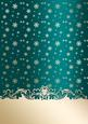 Golden Snowflakes Christmas Card Front (jade)