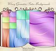 Wavy Geometric Satin Backgrounds