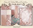 Satin & Velvet Mixed Pack Rose