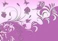 Flourish Garden Layered Background Magenta