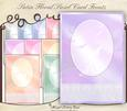 Satin Floral Swirl Card Fronts