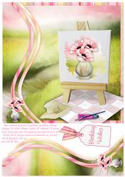 Painters Dream Anemone Blush Swirl Border 8x8inch