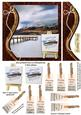 Swirl Border & Painters Easel Jetty & Mountain Card Front