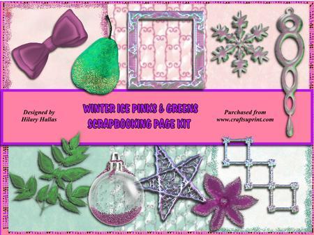 Winter Ice Pinks & Greens