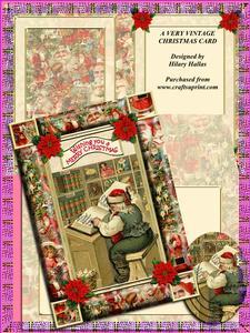 A Very Vintage Christmas Card