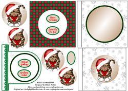 Kitty Christmas 4x4 Aperture Card Kit