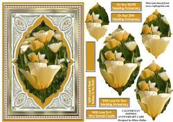 Californian Poppies Anniversary Card
