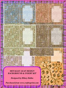 Metallic Leaf Background and Matching Insert Kit