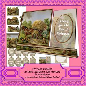 Vintage Farmer A5 Sidestepper Card Minikit