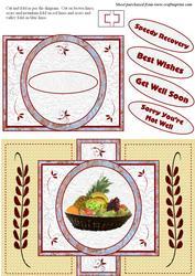 Basket of Fruit Get Well Card
