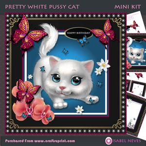 Pretty White Pussy Cat