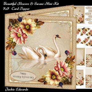 Beautiful Flowers & Swans Mini Kit