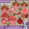 Love Letters Clip Art Graphics