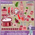 Cherry Blossom Spa Clip Art Graphics