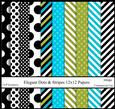 Elegant Dots & Stripes 12x12 Papers