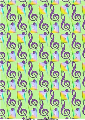 Musical Notes - Background Paper