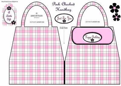 Pink Checked Handbag