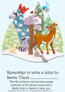 Letter to Santa in a Card