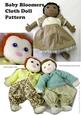 """Baby Bloomers a 15"""" Cloth Doll Pattern"""