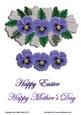 Pansies with Lace