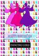View Silhouette Dancing Girls - Magenta Details