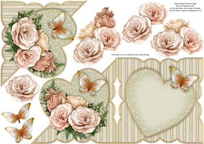 Shabby Chic Roses All in One Over the Edge