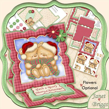 All Wrapped Up Christmas Easel Card Kit & Decoupage