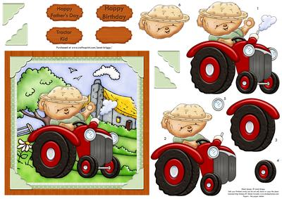 Tractor Ted Card Topper Decoupage Male Birthday CUP45690768 – Tractor Birthday Cards