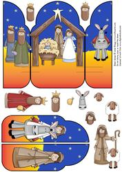 Gatefold Pop Up Christmas Nativity