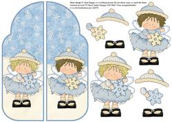 A5 Gatefold Pop Up Christmas Snow Fairies Part 2