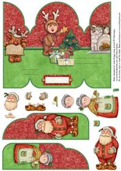 Claus Family Christmas Gate Fold Pop Up