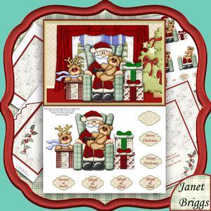 Santa at Home Christmas 3D Decoupage Kit