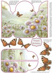 Butterfly Valley Gatefold Pop Up Card
