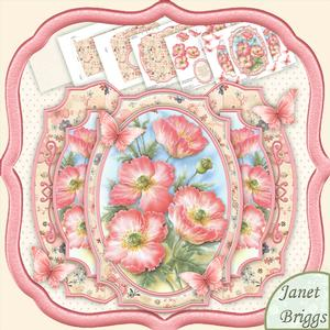 Poppies & Decoupage Double Pop Out Card Kit