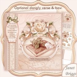 Sympathy Bible & Rose 8x8 Decoupage Mini Kit