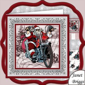 Biker Santa Christmas 8x8 Pyramage Mini Kit