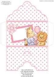 Animal Crew Baby Girl or Girls Birthday Money Wallet