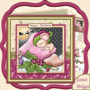 Not a Mouse is Stirring 7.5 Christmas Decoupage Mini Kit