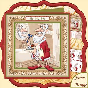 Dressing Up as Santa Christmas Decoupage Mini Kit for Men