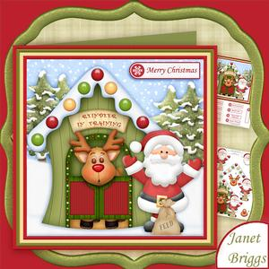 Reindeer in Training 7.5 Christmas Decoupage Mini Kit