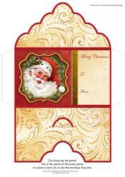 Christmas Money Wallet Vintage Jolly Santa
