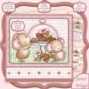 Doughnuts & Sprinkles 7.5 Decoupage Mini Kit All Occasions