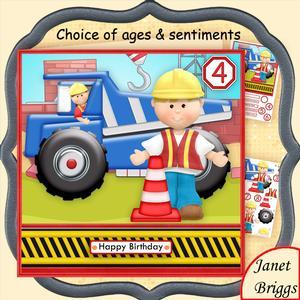 Dumper Truck 7.5 Decoupage Mini Kit for Boys or Men
