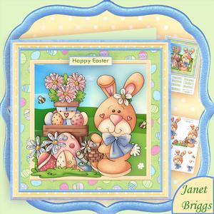 Easter Egg Hunt 8x8 Decoupage Mini Kit