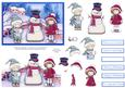 Winter Fun Christmas Card Topper and Decoupage